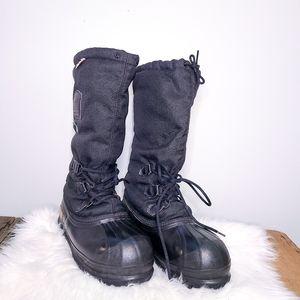 SOREL Skagway Steel Toe Work Black Boots size 7